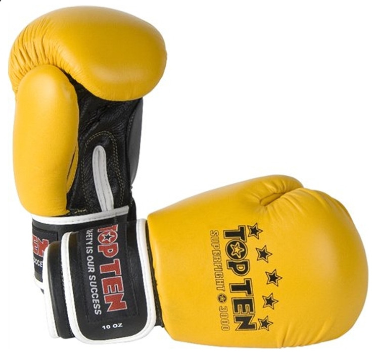 Top Ten 10oz Superfight 3000 Boxing Gloves Yellow