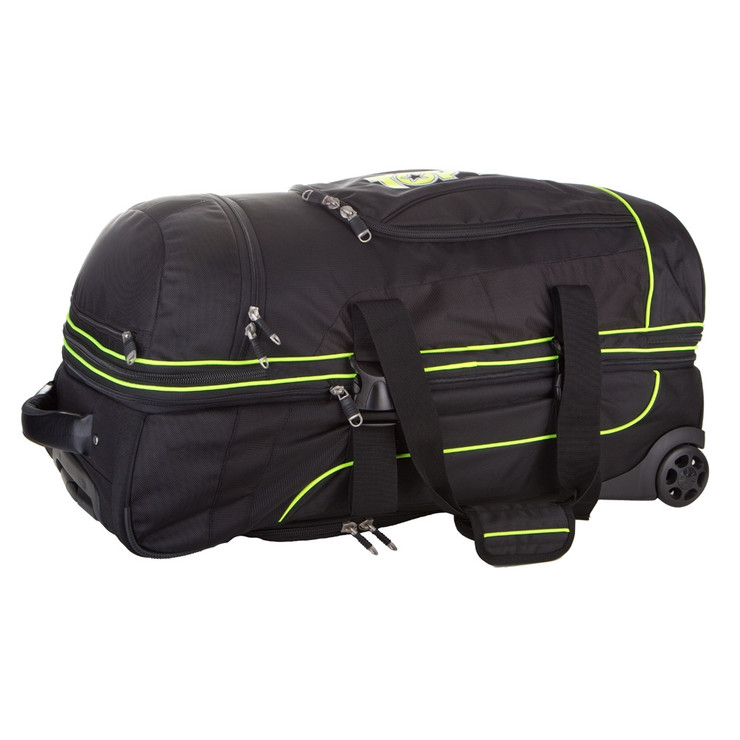Top Ten Deluxe Travel Trolley Bag Black/Green