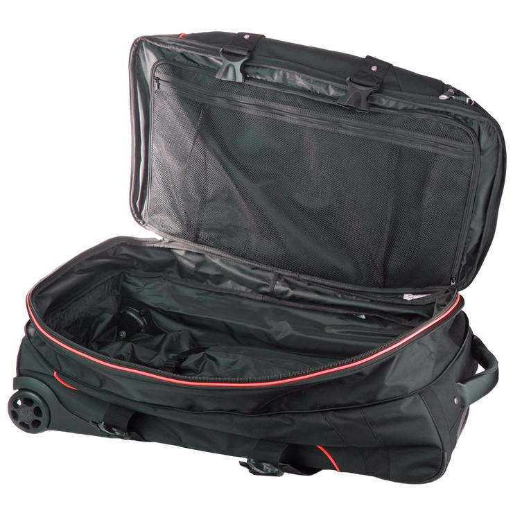 Top Ten Deluxe Travel Trolley Bag Black/Red