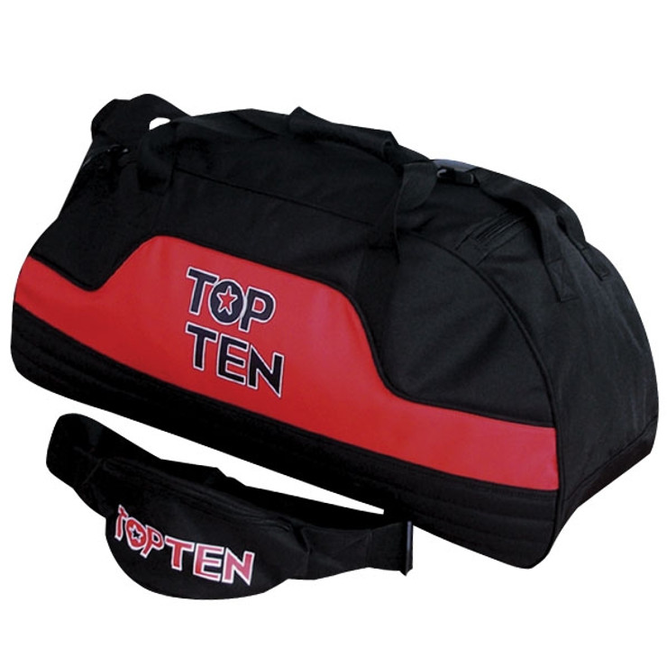 Top Ten Sports Holdall Bag Black/Red