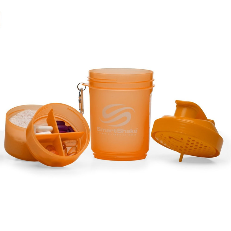 SmartShake Neon Edition Supplement Shaker Orange