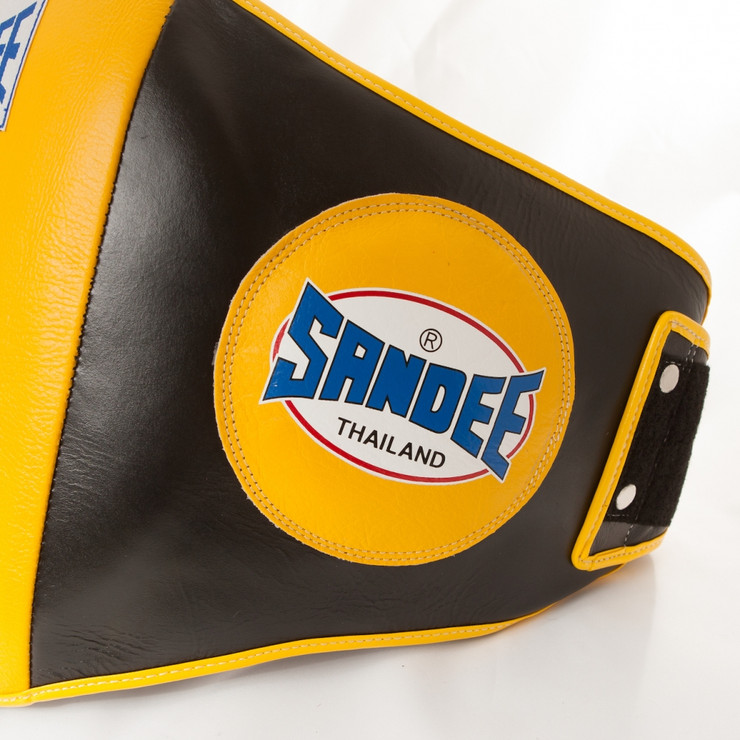 Sandee Leather Authentic Belly Pad Black/Yellow