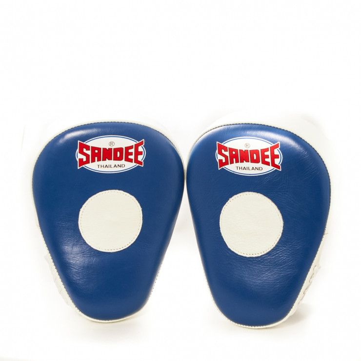 Sandee Leather Authentic Curved Focus Mitts Blue