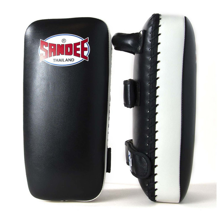Sandee Leather Authentic Large Flat Thai Pads Black/White