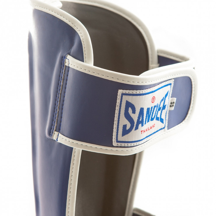 Sandee Leather Authentic Boot Shin Guards Blue