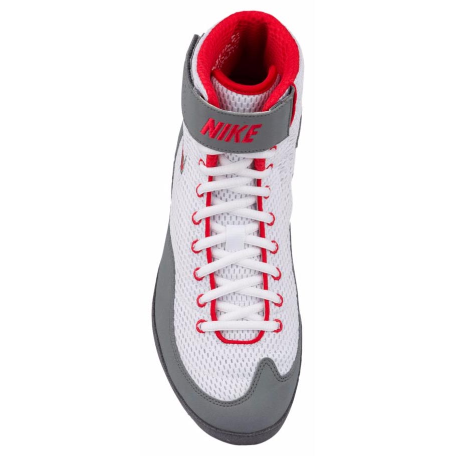 90ad039015c6 ... Nike Inflict 3 Boxing Boots White Red Grey ...