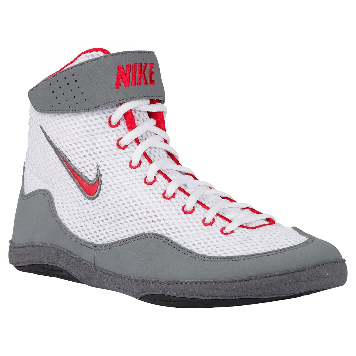 b3cf47fc08dc6b ... Nike Inflict 3 Boxing Boots White Red Grey ...