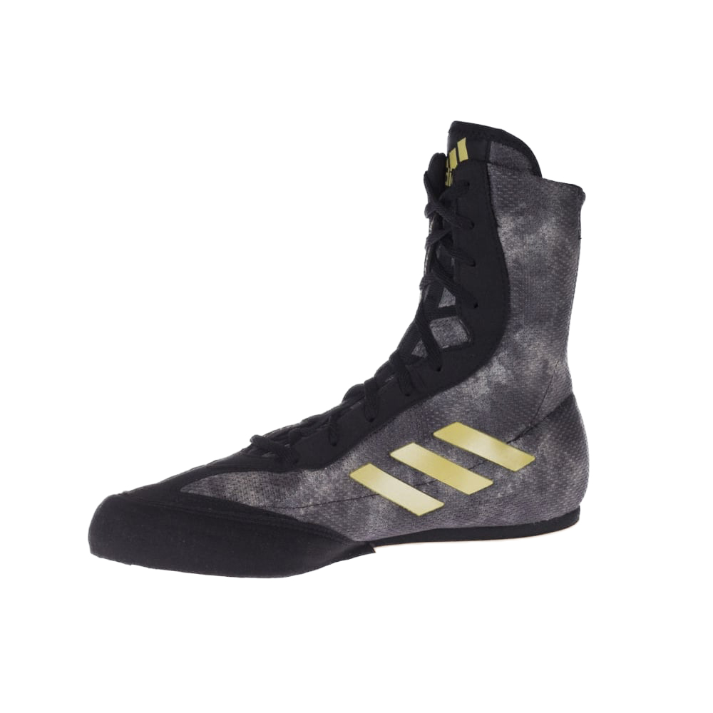 4562d5d1a1667 Adidas Box Hog Plus Boxing Boots Black/Grey/Gold | Made4Fighters