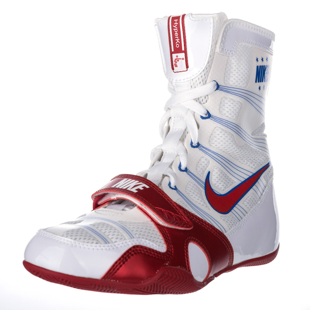f61c982d484 Nike Hyper KO Boxing Boots White/Red