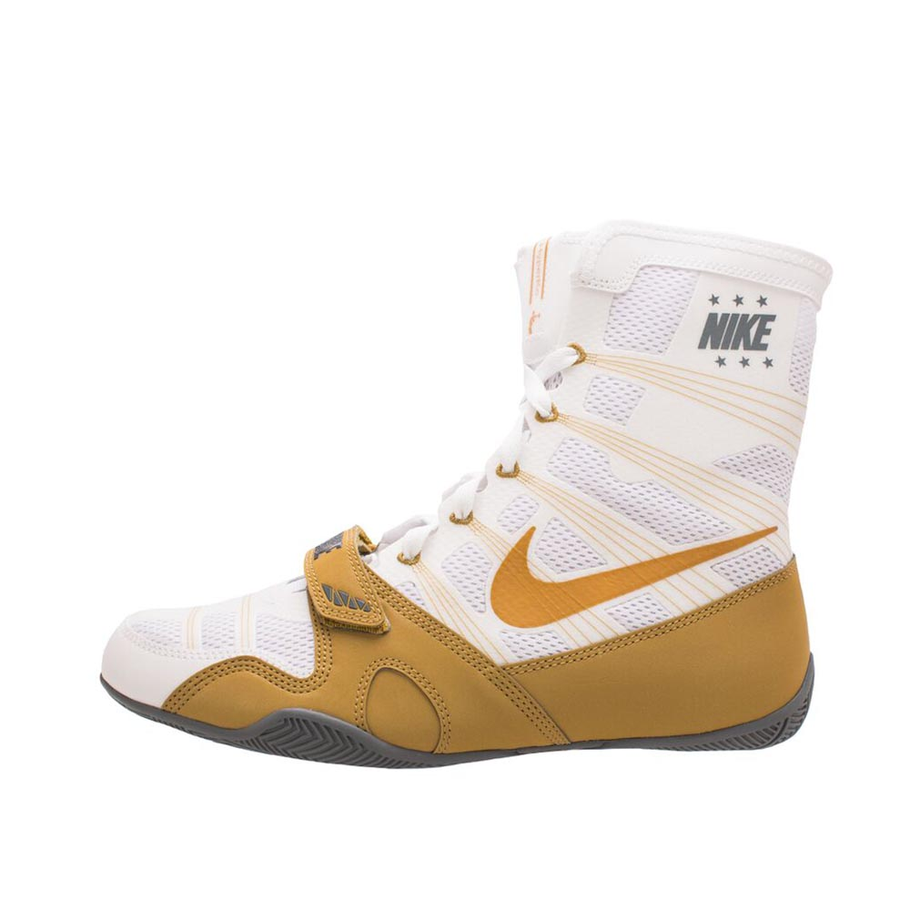 los angeles 05808 b1a2c Nike Hyper KO Boxing Boots White Gold