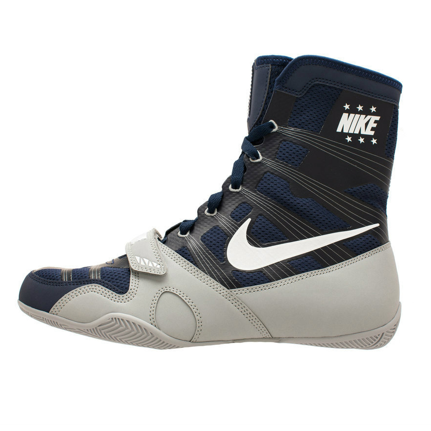 565c23e900f Nike Hyper KO Limited Edition Boxing Boots Navy Silver ...