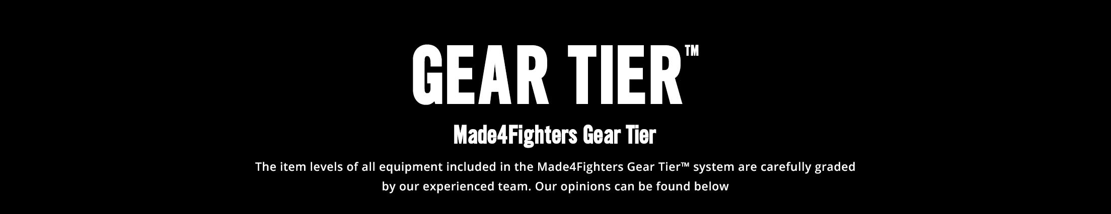 Made4Fighters Gear Tier