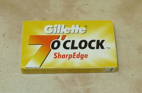 Gillette 7 O'Clock double edge razor blades Yellow