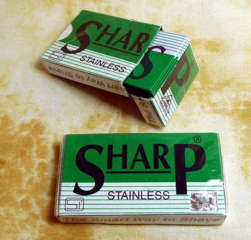 Sharp double edge razor blades 10 pack