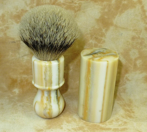 Brush Blank White Stripped Horn