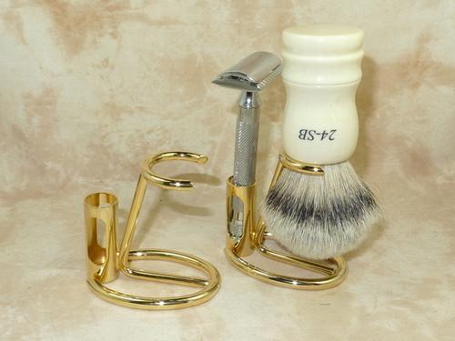 Omega Gold Brush & Razor Stand 206