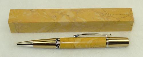 Tru Stone Pen Blank Honey Jasper 3/4