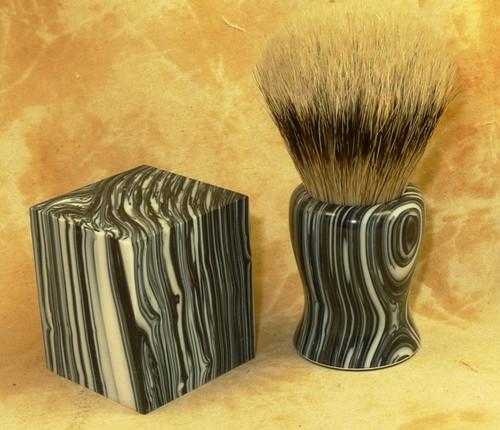 Tru Stone Brush Blank Banded Black & White