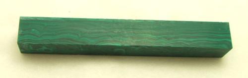 Tru Stone Pen Blank Malachite Banded 3/4