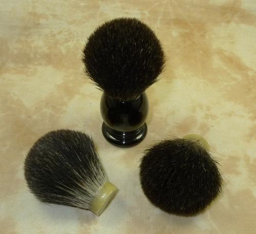 Black Badger hair knot  24mm