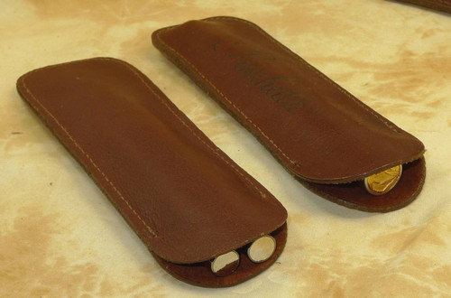 Aston Tan Double leather pen case