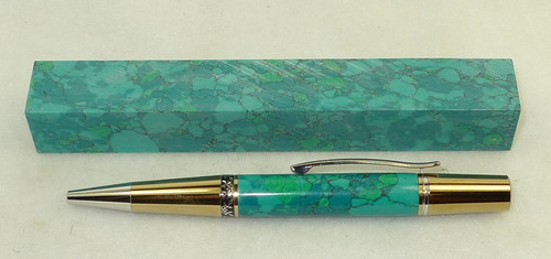 Tru Stone Pen Blank Chrysocolla 3/4