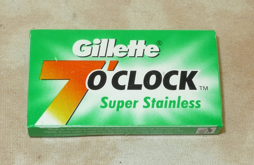 Gillette 7 O'Clock Super Stainless double edge razor blades Green