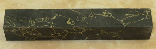 Tru Stone Pen Blank Black with Gold Matrix 3/4