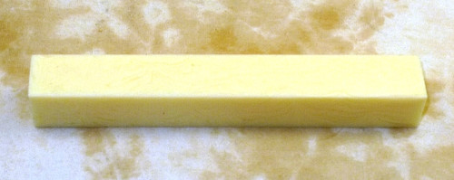 Tru Stone Pen Blank Banded Ivory 3/4