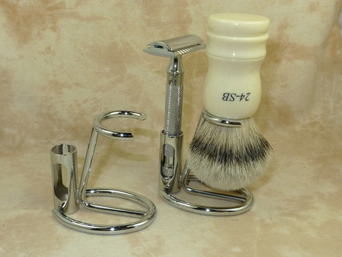 Omega Chrome Brush & Razor Stand 226