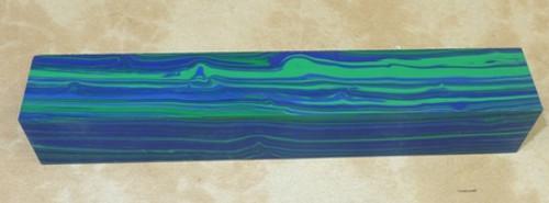 Tru Stone Pen Blank Banded Azurite 7/8
