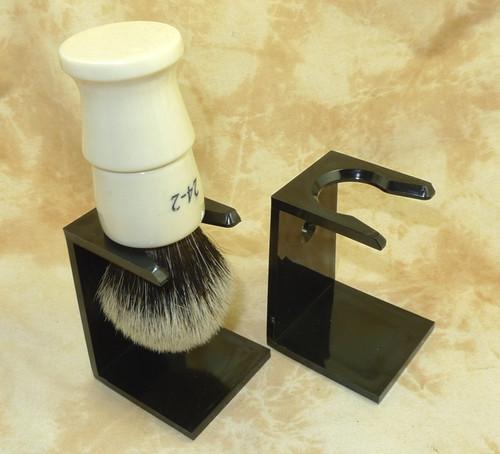 Black Acrylic Brush Stand