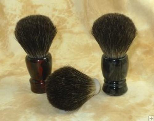 Black Badger hair knot 22mm