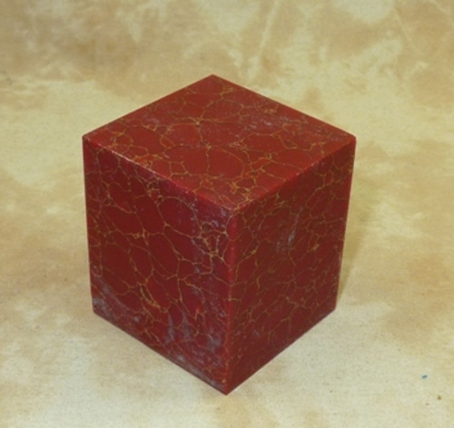 Tru Stone Brush Blank Red with Gold Web