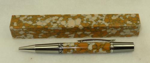 Tru Stone Pen Blank Leopard Skin Jasper 3/4