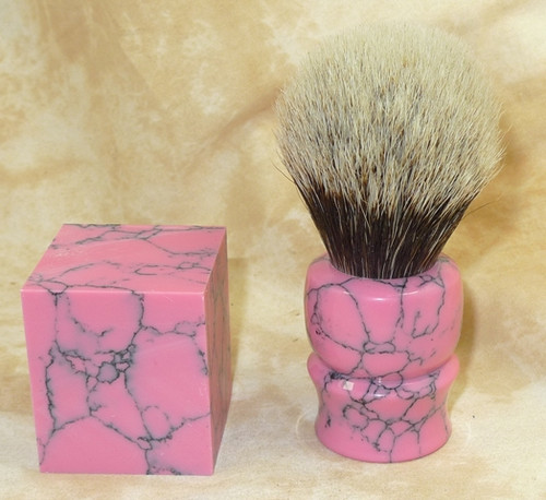 Tru Stone Brush Blank Rhodonite