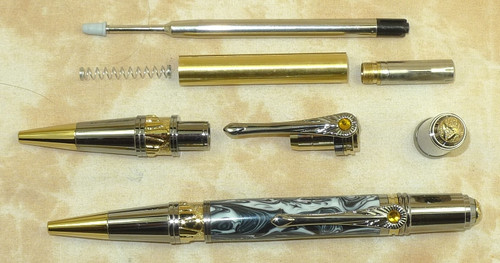 Art Deco Ballpen - Black TN/Gold TN