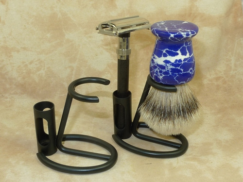 Omega Brush/Razor Stand Black