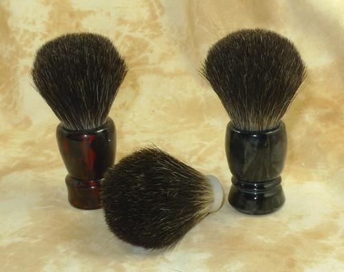 Black Badger Hair knot  20mm