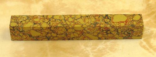 Tru Stone Pen Blank Yellow Dino Bone 3/4