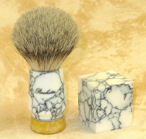 Tru Stone Brush Blank White Turquoise