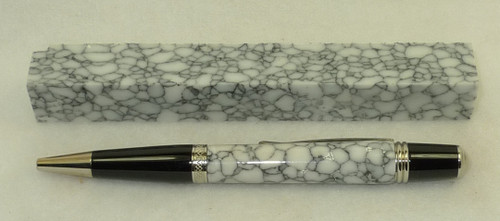 Tru Stone Pen Blank White Web 3/4