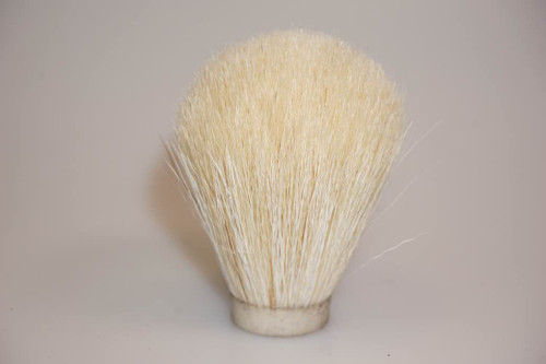 White horse hair shaving brush knot