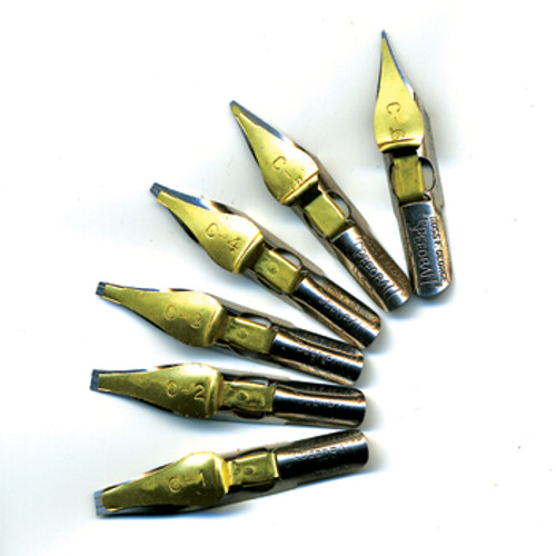 Speedball C nib set of 6 nibs