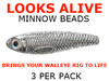 Walleye snell components Looks Alive Minnow Beads METALLIC SILVER