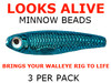 live bait rig Looks Alive Minnow Beads METALLIC BLUE