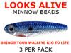 live bait rig Looks Alive Minnow Beads CHROME BLUE SHAD