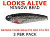 Looks Alive Minnow Beads SILVER SHINER MINNOW