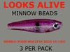 Looks Alive Minnow Beads Electric Raspberry