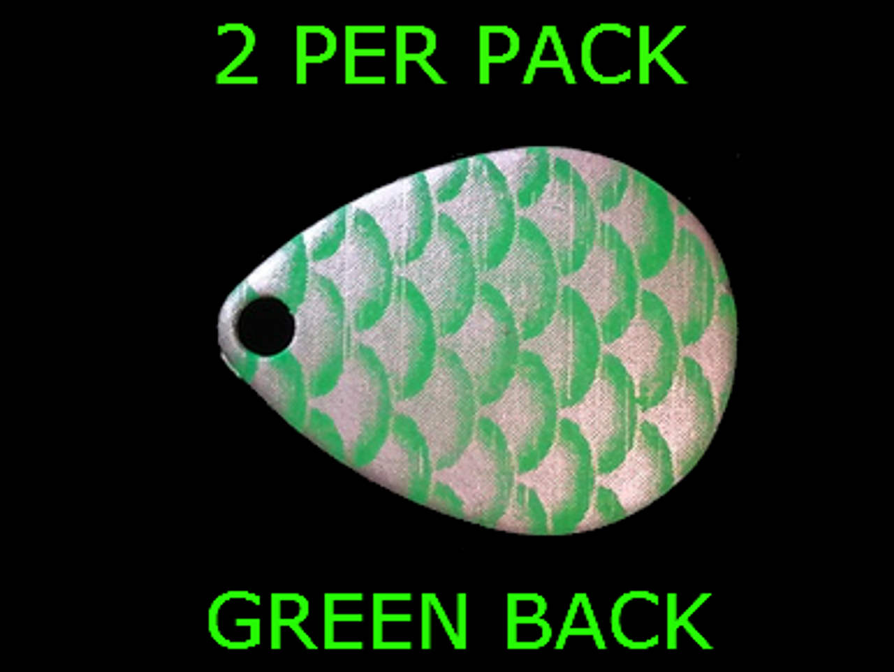 10 pack!! #3 Green Scale Colorado Spinner Blades